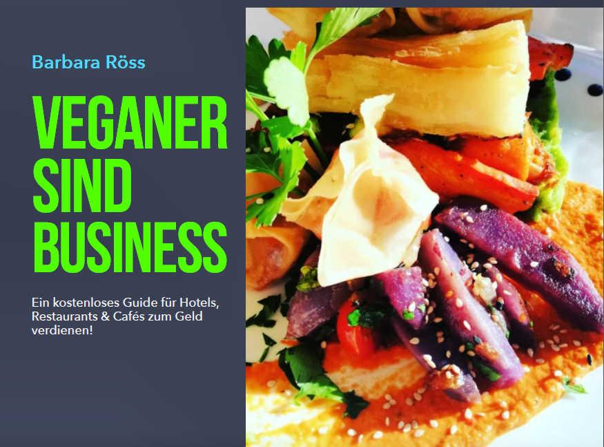 Veganer sind Business - Kostenloser Guide Titelseite DEUTSCH